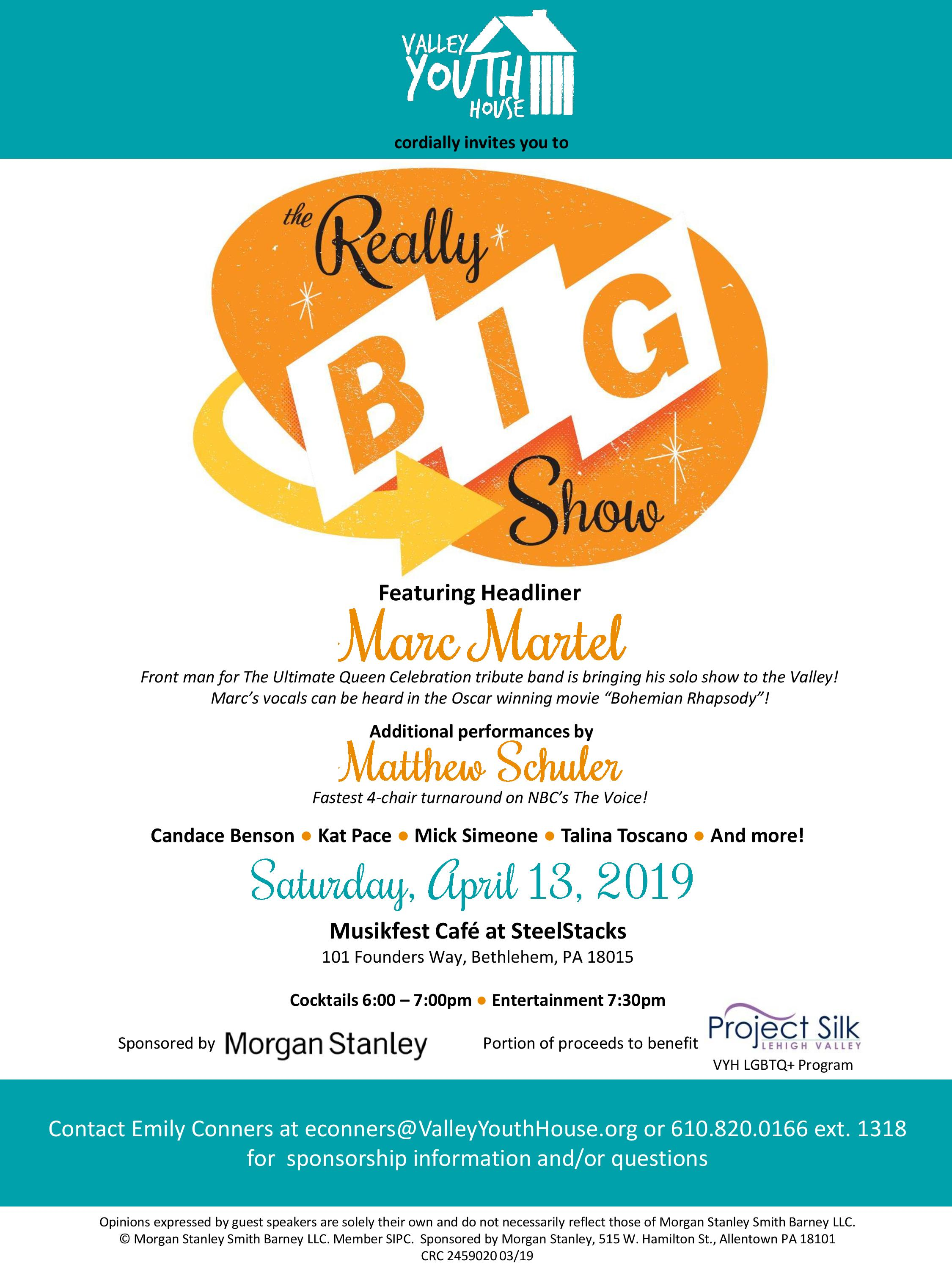 The Really Big Show - presented by Morgan Stanley - Valley Youth House