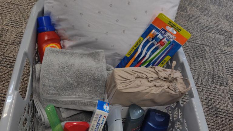 LV Shelter Welcome baskets